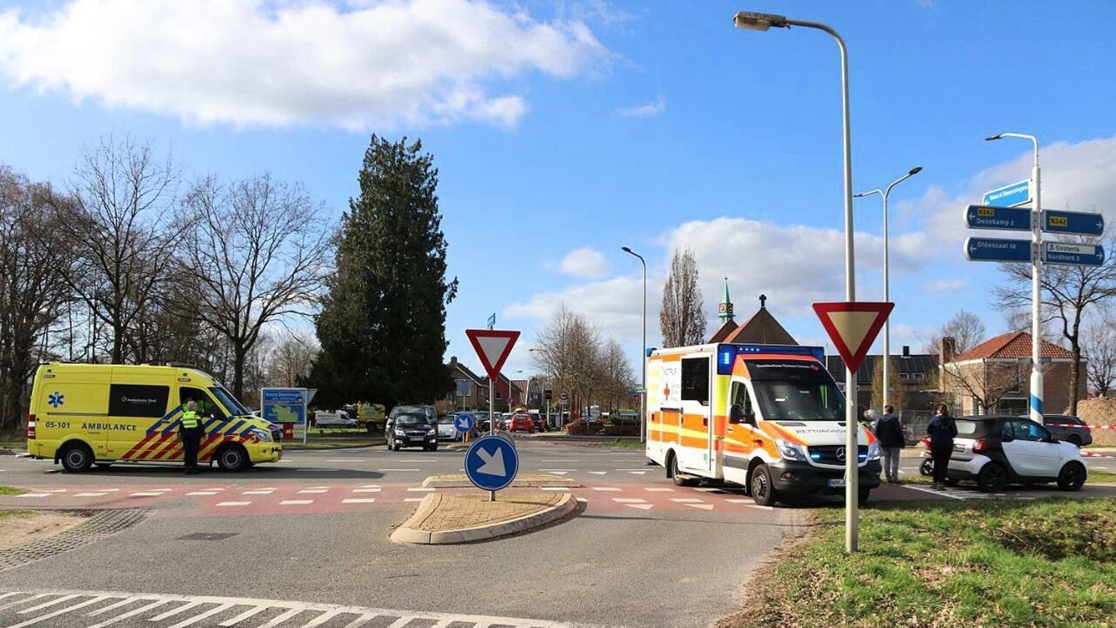 Scooterrijder gewond bij ongeluk in Denekamp.