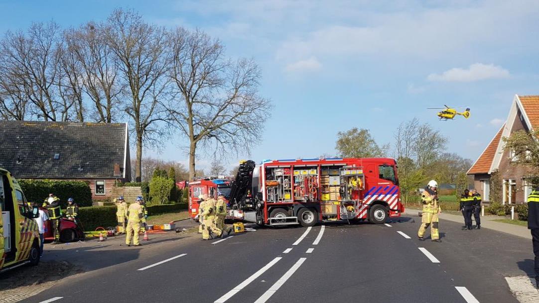 Gewonde met traumaheli naar ziekenhuis na ernstig ongeluk in Albergen.