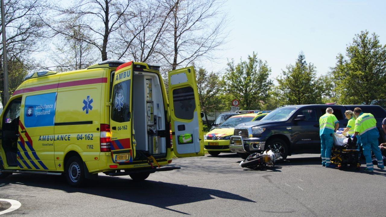 Bromfietser gewond bij ongeluk in Lichtmis.