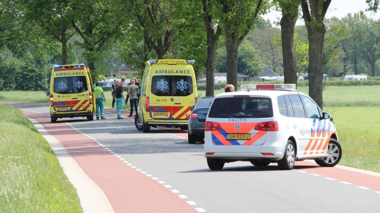 Motorrijder gewond na ongeluk bij Bathmen.