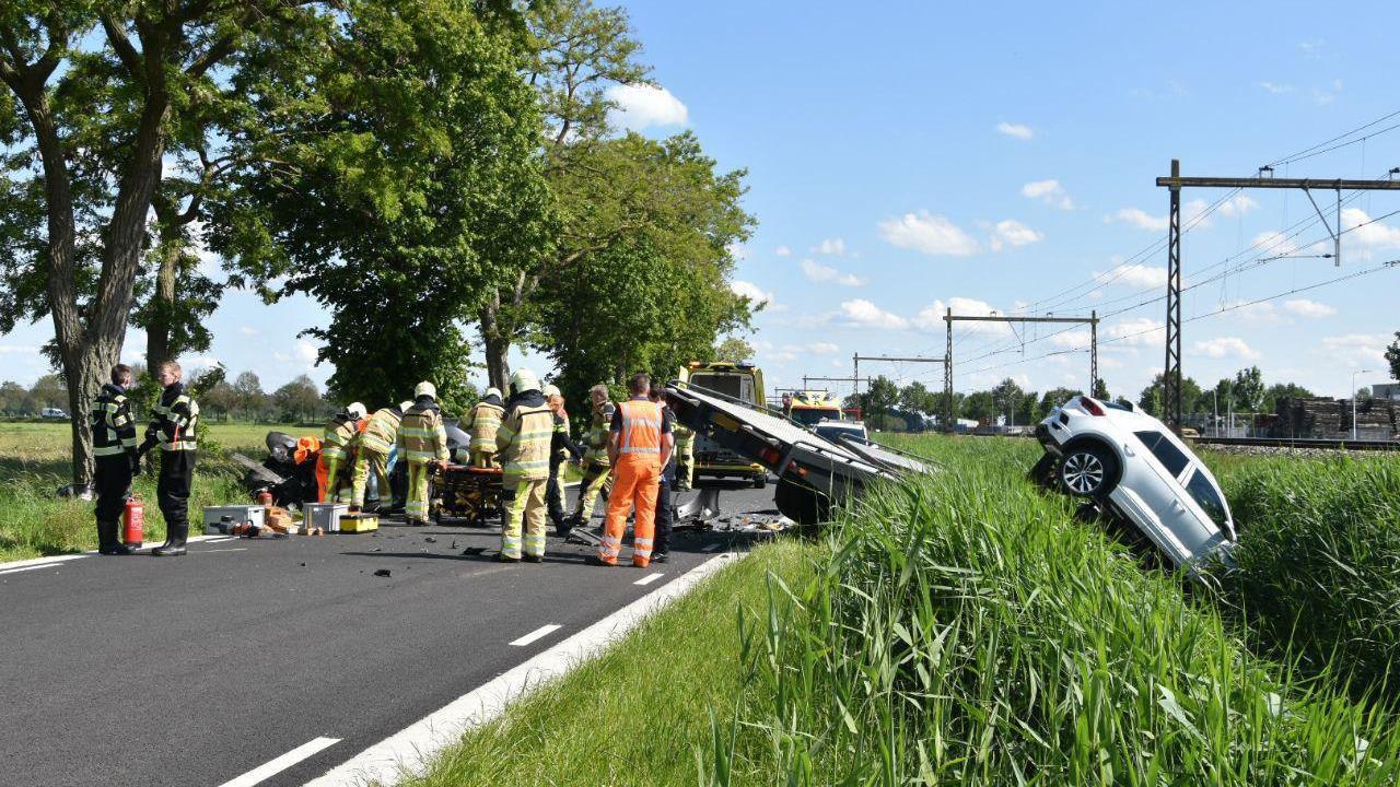 Traumahelikopter opgeroepen na ernstig ongeluk bij Staphorst.