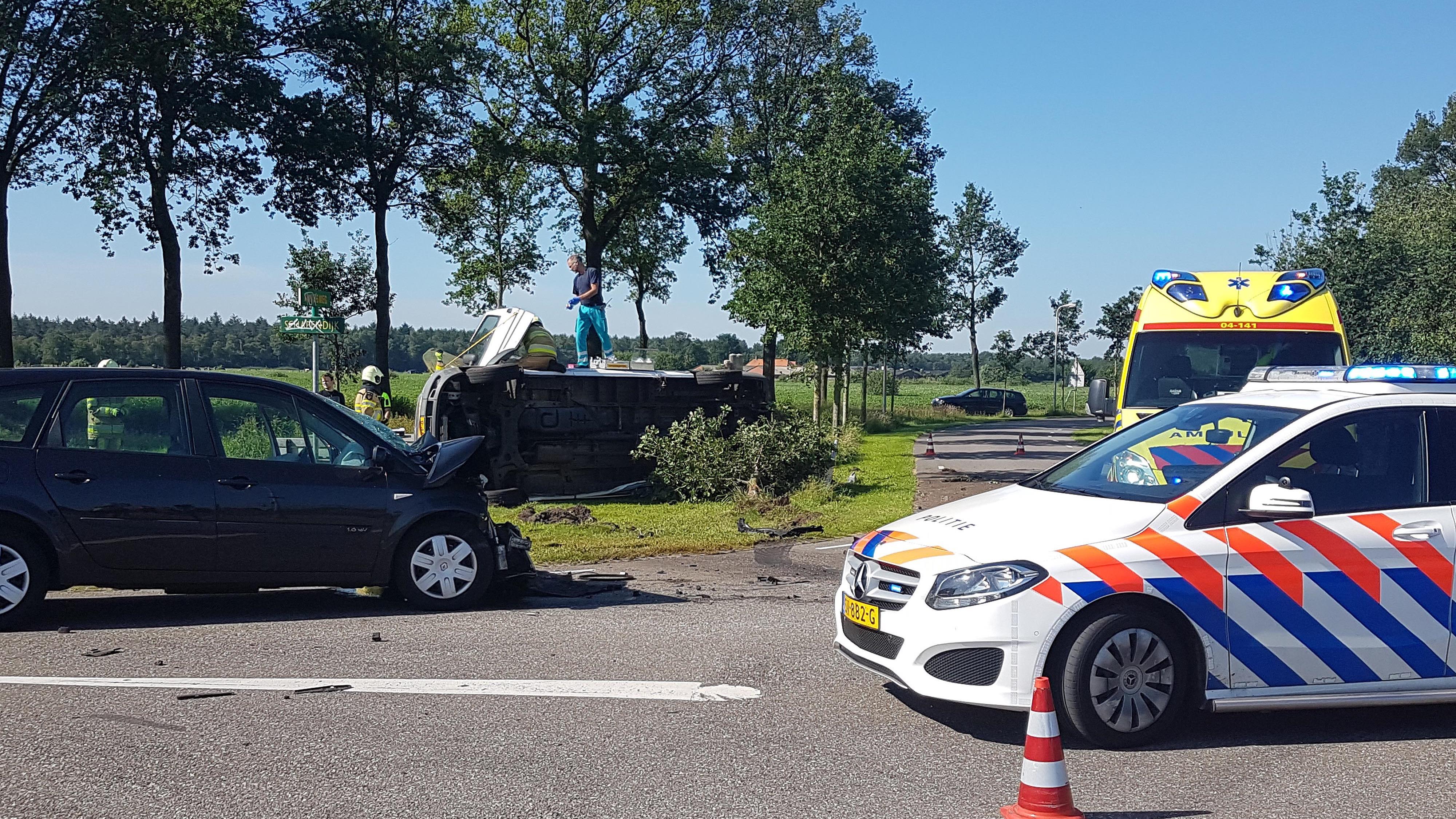 Twee gewonden bij ongeval in Arriën.