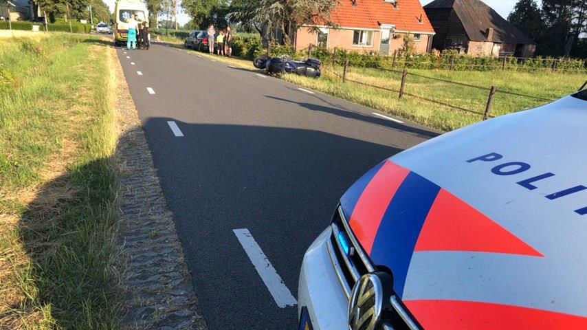 Motorrijder gewond geraakt bij eenzijdig ongeluk in Kloosterhaar.