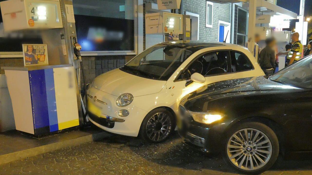 Man aangehouden voor ongeluk bij tankstation in Enschede.