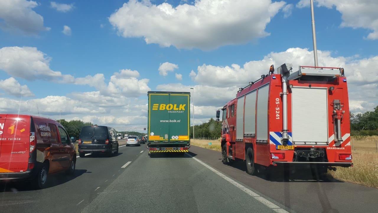 A1 dicht van Deventer richting Hengelo door ongeval.
