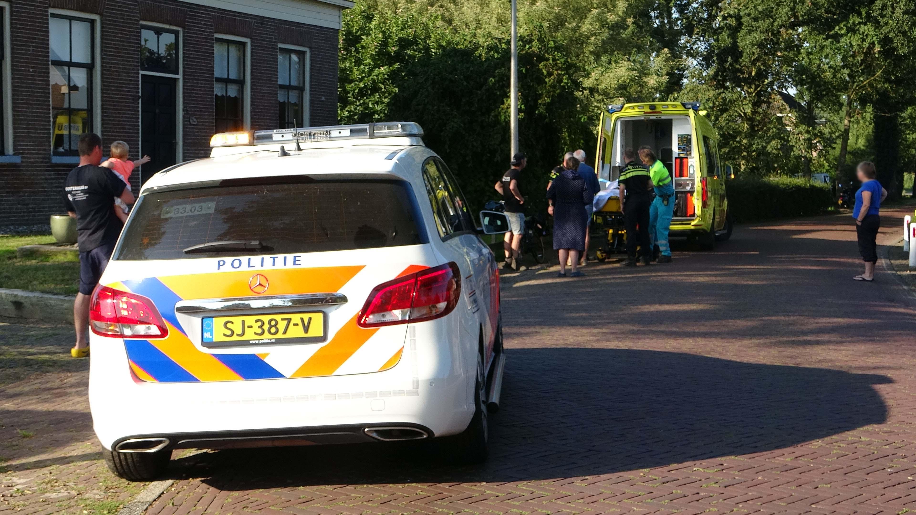 Fietsster raakt gewond bij aanrijding in Kolderveen.