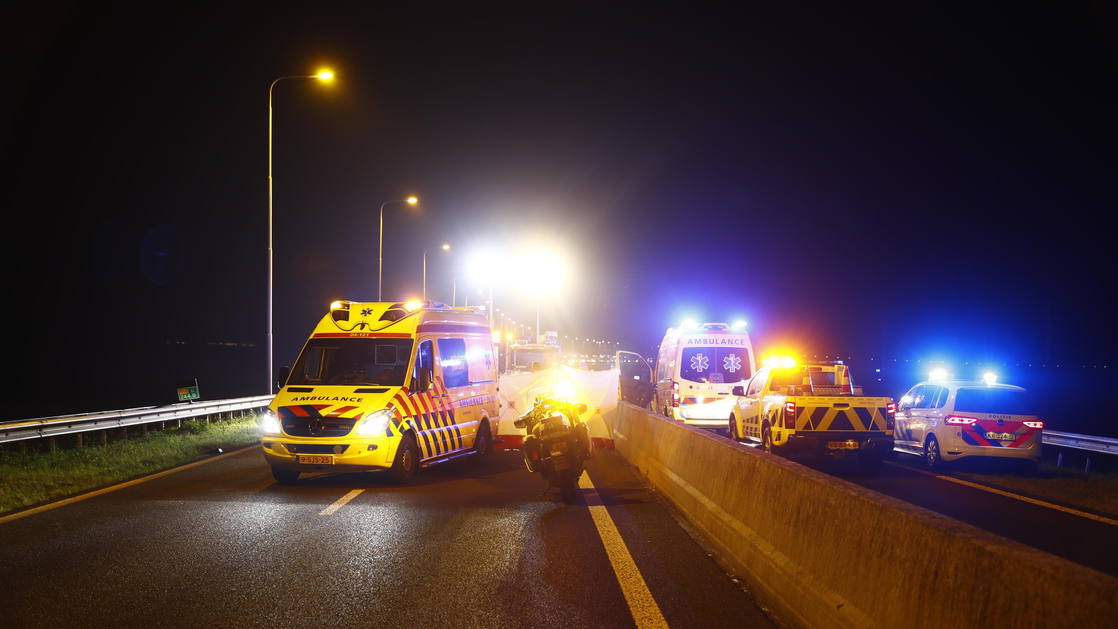 Man uit Emmeloord overleden na ernstig ongeval op de N50 bij Kamperveen.