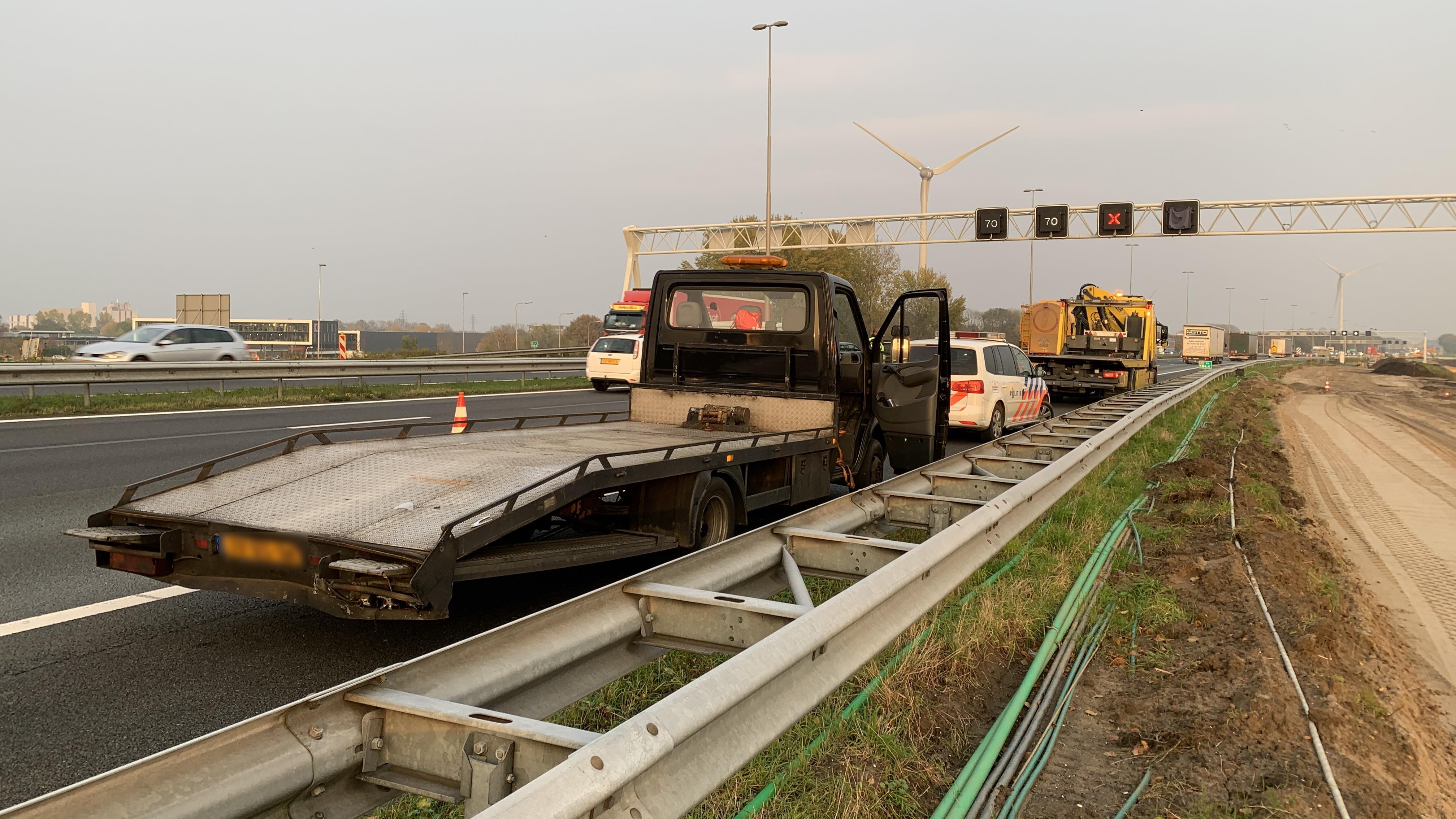 Flinke vertraging door kop-staartbotsing op A1 bij Deventer.