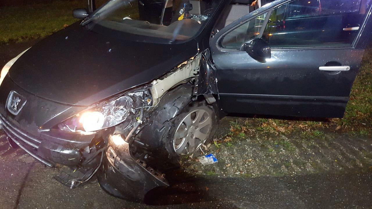 Automobilist gewond door ongeval op N349 bij Harbrinkhoek.