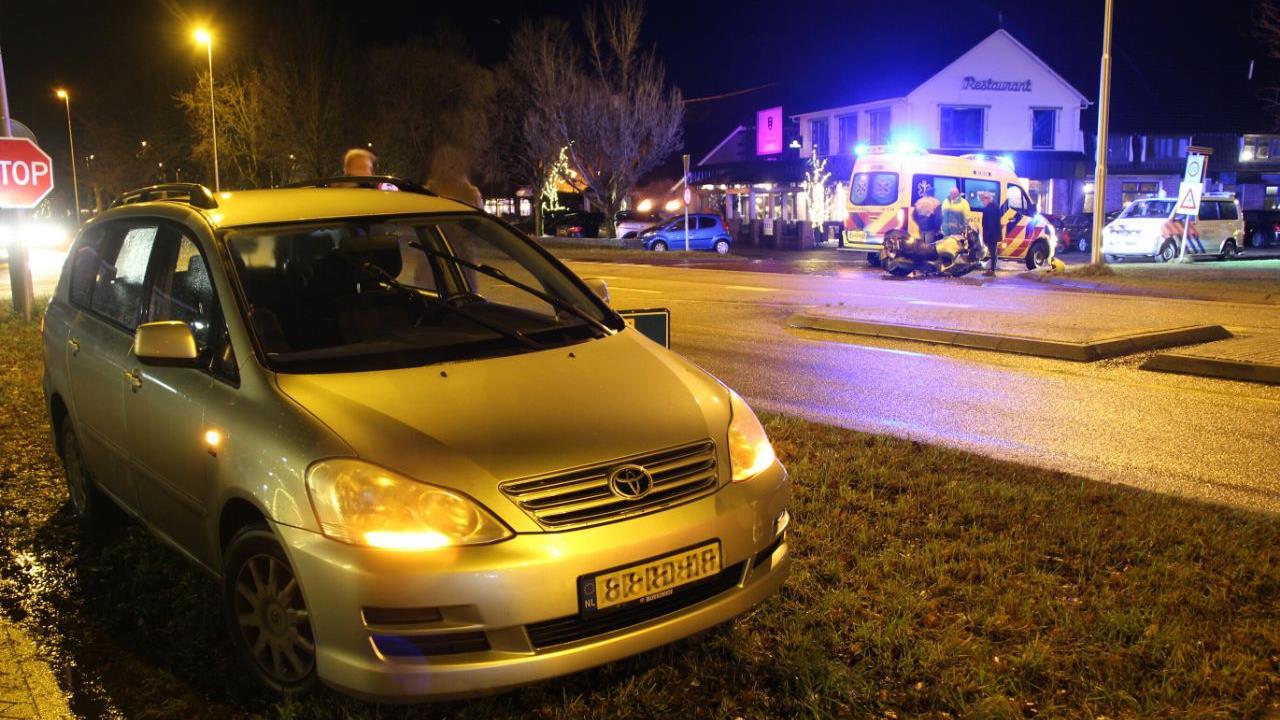 Motorrijder gewond bij ongeluk op N35 in Mariënheem.