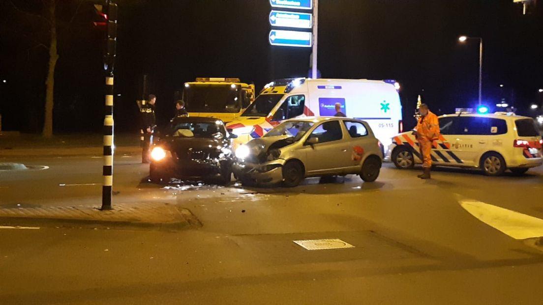 Veel schade en gewonde bij ongeluk in Enschede.
