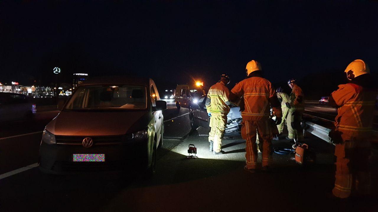 Gewonde bij botsing oprit A35 in Hengelo.