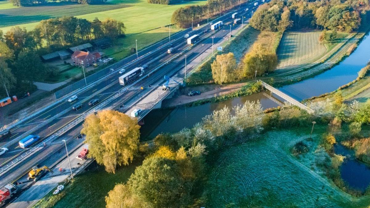 Werk aan A1 verplaatst zich naar Bathmen-Markelo, afritten enkele dagen dicht