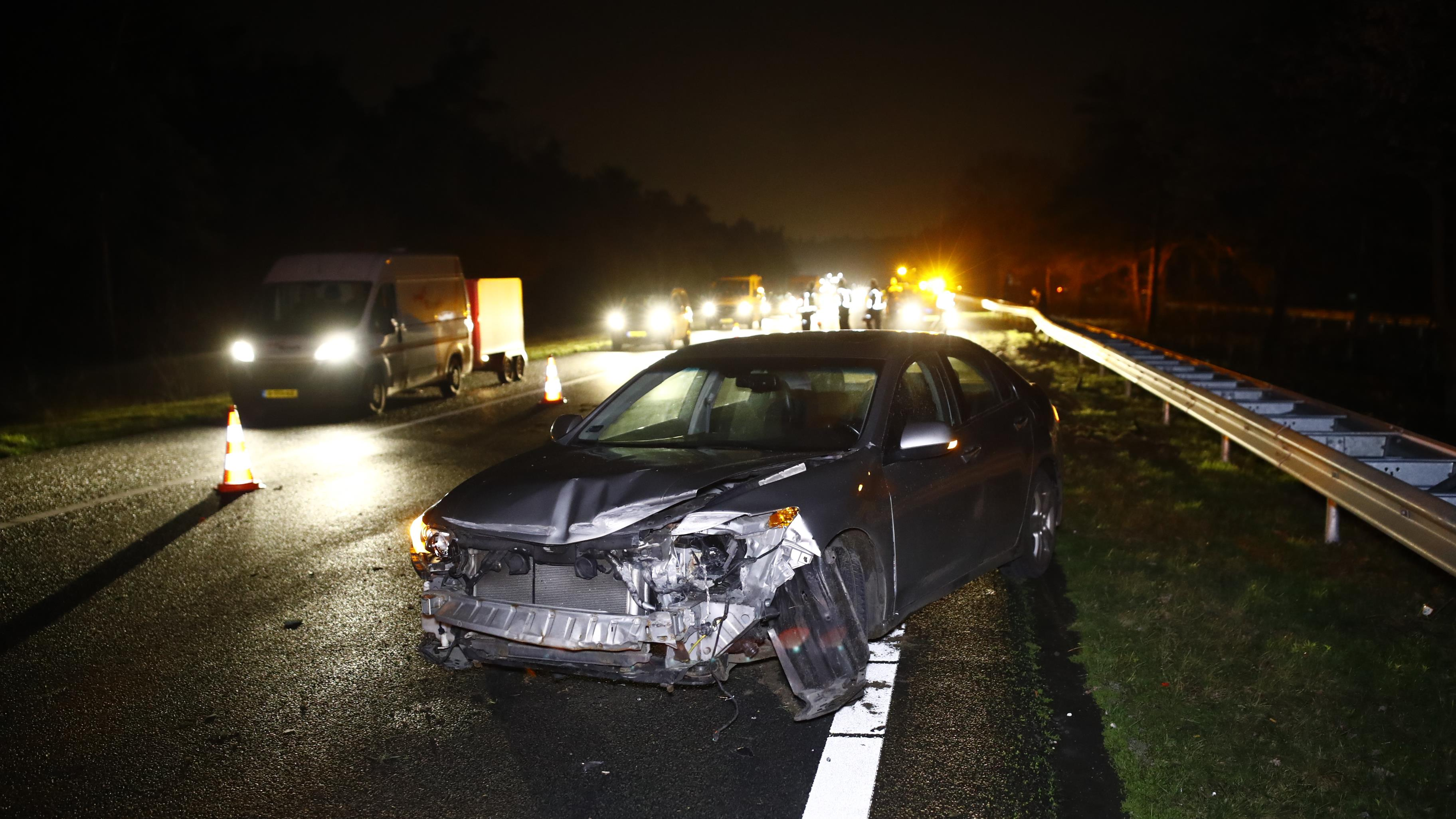 Forse vertraging door ongeluk op A28 tussen Wezep en t Harde.