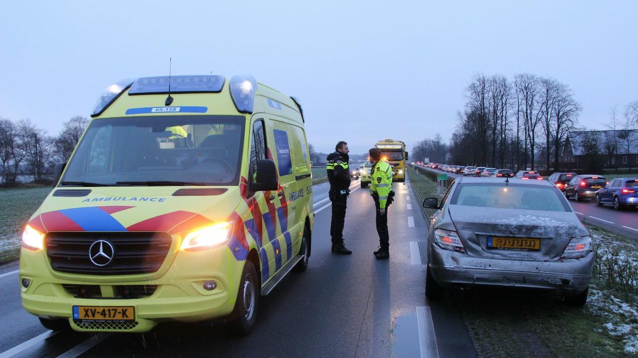 Gewonden bij ongeluk op N35 bij Wierden.