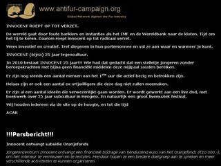 Uitingen op website Innocent