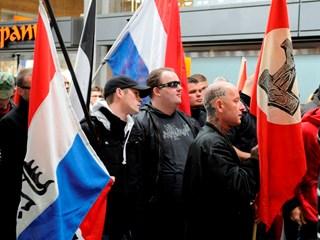 Werknemer deed mee aan demonstratie NVU.