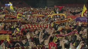 Onthaal spelers Go Ahead Eagles in Adelaarshorst