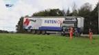 Vrachtwagen geschaard bij Zwolle
