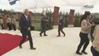Geert Wilders bij genocidemonument in Almelo