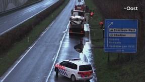 Wateroverlast op Westerval in Enschede