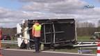 Ongeluk met caravan op A32 bij Steenwijk