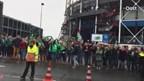 Aankomst spelersbus FC Groningen