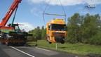 N377 korte tijd dicht voor berging vrachtwagen