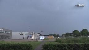 Onweersbuien boven Zwolle