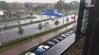 De ceintuurbaan in Zwolle staat vol water