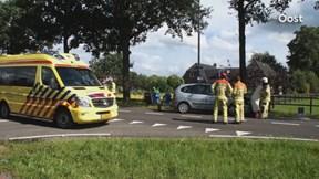 Auto in de sloot bij Nieuwleusen