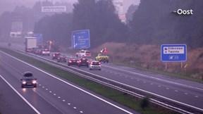 Ongeluk op de A1 bij Oldenzaal