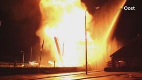 Brand in de Oude Molen bij Deventer