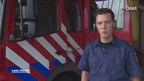 Brandweeroefening in Hengelo