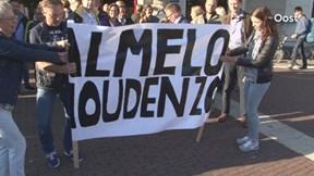 Impressie van de protestbijeenkomst van medewerkers rechtbank Almelo in Zwolle