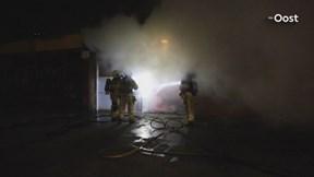 Een grote brand op een basisschool in Zwolle vanavond