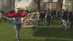 De demonstratie tegen het AZC is rustig verlopen. Er zijn zes arrestaties verricht