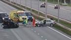 Chaos op de A1/A35 bij Borne na ongeluk
