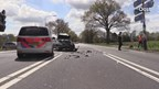 Auto belandt in de sloot na ongeluk op N18
