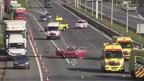 A35 dicht na ongeluk