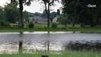 De beelden van het hoge water in de Dinkel bij Losser