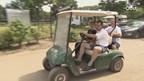 Met de golfkar door Park Scholtenhagen