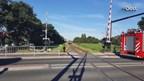 Trein schampt scootmobiel in Hengelo
