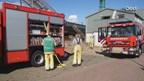 Brand op schip bij scheepswerf in Zwartsluis