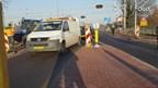 Trekker vast op spoorwegovergang in Hengelo