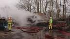 Buitenbrand op erf in Wetering