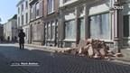Filmopnames in de binnenstad van Zwolle voor oorlogsfilm