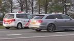 Mogelijk gestolen auto klemgereden op de A1