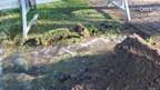 Breuk in waterleiding in Markelo