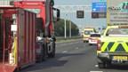Ongeluk met vrachtwagen op A1